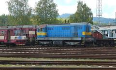 721-091 at Ceska Trebova depot (Karel1999 Over a Million views ,many thanks) Tags: vlak zug locomotives trains diesels ceska trebova