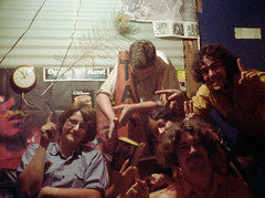 """Back in High School, I fell in with this group of friends. Incredibly witty, intelligent and just a great group of folks to spend time with down in the """"party room"""" which we built shown here. Milford Connecticut, July 2 1976 (wavz13) Tags: oldphotographs oldphotos 1970sphotographs 1970sphotos oldphotography 1970sphotography vintagesnapshots oldsnapshots oldfriends 1970sfriends vintagefriends lifetimefriends vintagephotographs vintagephotos vintagephotography filmphotos filmphotography historicphotographs historicphotos historicphotography vintagemilford oldmilford 1970smilford vintagewoodmont oldwoodmont 1970swoodmont connecticutphotographs connecticutphotos oldconnecticutphotography oldconnecticutphotos vintagenewengland oldnewengland 1970snewengland vintagenewenglandphotography oldnewenglandphotography vintagenewenglandphotos oldnewenglandphotos oldfamilyphotos vintagefamilyphotos oldfamilyphotography vintagefamilyphotography 110film kodacolor analogphotography instamatic pocketinstamatic vintagekids vintagechildren vintageteens vintageteenagers teenmemories teenagememories vintageclocks oldclocks vintagetrafficcones 1970steens 1970steenagers lifelongfriends friendsforlife"""