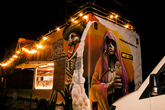 caravana (sonia ura) Tags: mexico caravana fast food burrito santa muerte calavera esqueleto graffiti art street uk