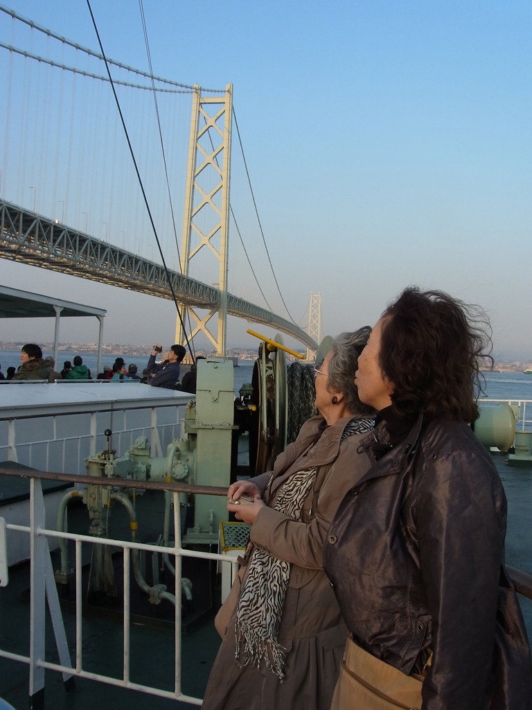 on the Tako Ferry (with Akashi Kaikyo Bridge) #3