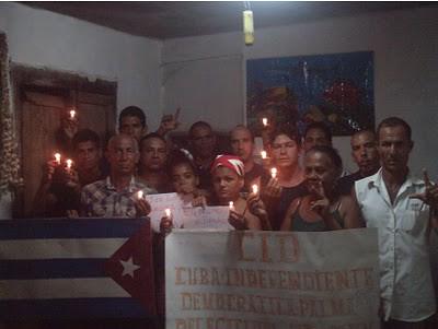 Vigilia por los presos politicos