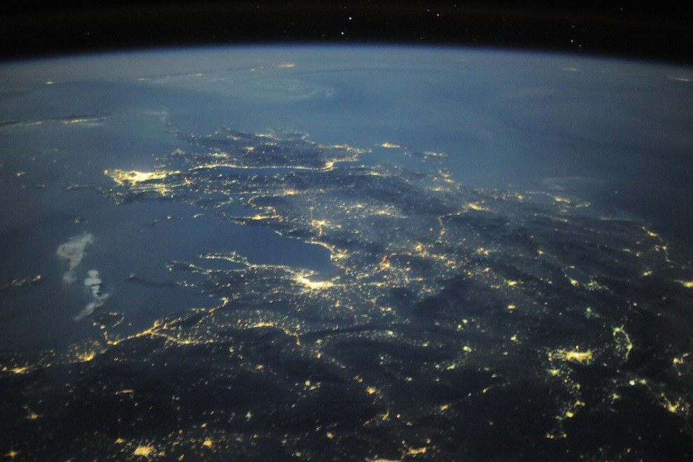 Incredible Photos from Space: Greece by night