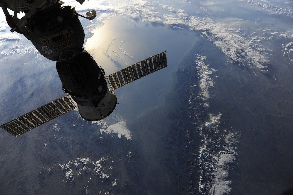 Incredible Photos from Space: Soyuz 23s above the Caspian Sea