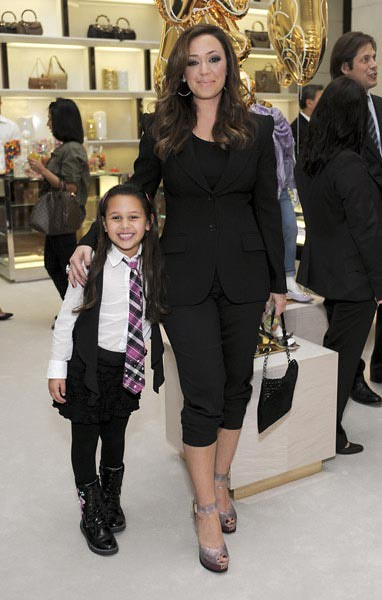 Leah Remini with Six-Year-Old Daughter Sofia at the Gucci Childrens Collection Event in Beverly Hills