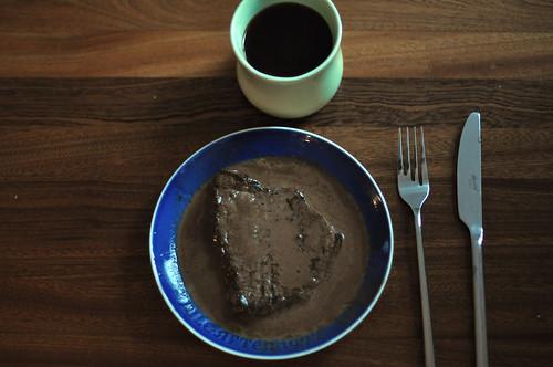 Kaffe og bøf med kaffesauce