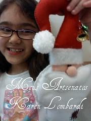 Sarah segurando Papai Noel de Maaneta (Karen Lombardi - karenlombardi.blogspot.com) Tags: de noel papai maaneta