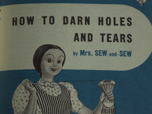 Mrs. Sew-and-Sew darns