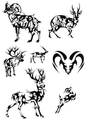 GAMOS (Black Crown . tribal) Tags: white black art branco tattoo illustration design arte tribal preto deer e antelope gamo elk horn tatoo ilustrao desenho escuro chifre veado alce guinu dardeer antilopek