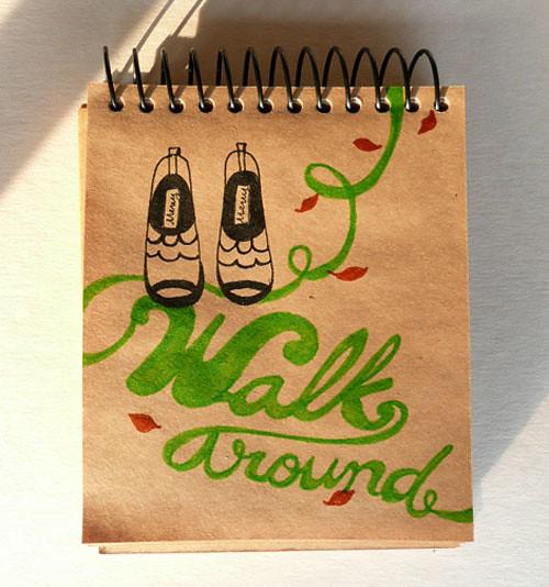 walk around doodle
