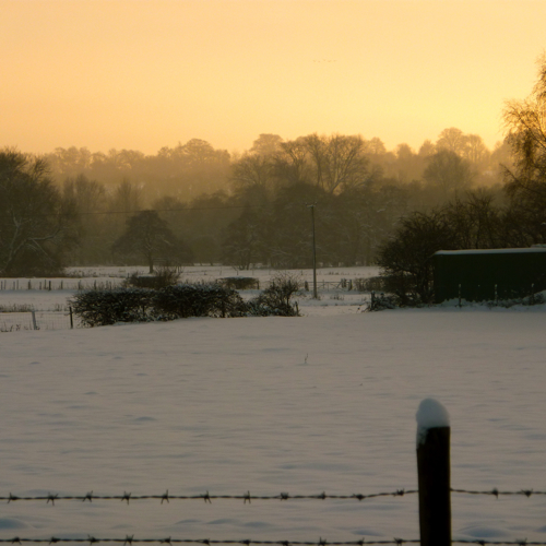 Chilham in the snow