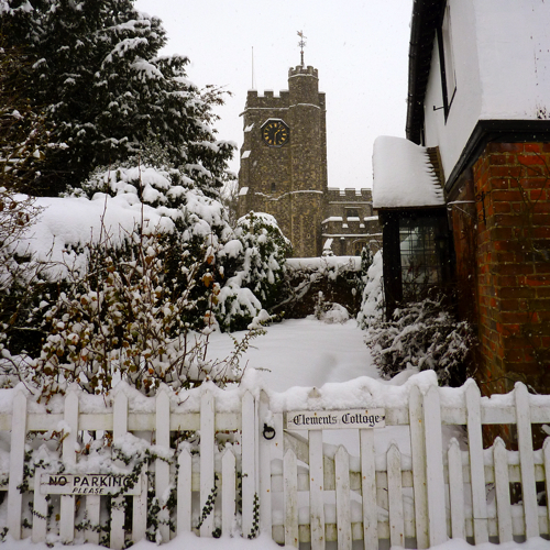 Chilham in the snow ~ village church