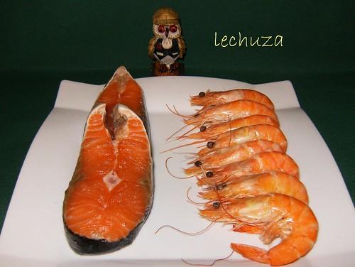 Conchas de salmón-ingrs.