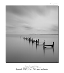 ... broken pier ... (liewwk - www.liewwkphoto.com) Tags: from park sea wild 6 plant green nature water fauna port canon garden landscape flow flora soft long exposure waves natural m1 outdoor smooth silk foliage lee tropical kg kampung dickson filters f28 height pantai loose silky teluk watercourse portdickson sembilan mark1 panjang negeri rainforests gnd 1635l leefilter 5dmark2 canon5dm2 liewwk pantaipasirpanjang kampungteluk httpliewwkmacroblogspotcom wwwliewwkphotocom