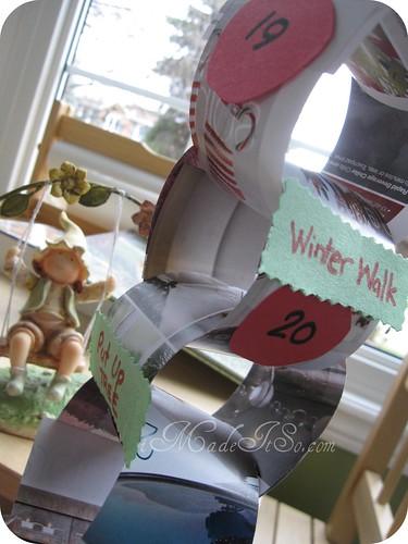 count down advent calendar paper chain