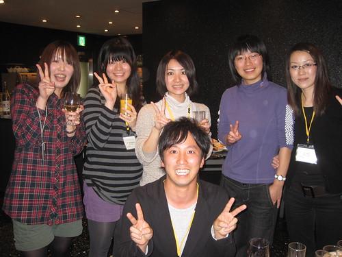 女性陣と田崎