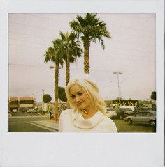 Holly Madison (Nick Leonard) Tags: vegas portrait celebrity film polaroid holidays pretty lasvegas nevada nick vehicles palmtrees blonde polaroidspectra spectra toysfortots fanpalms instantgratification instantfilm westsahara polaroidfilm spectrafilm hollymadison 1200film nickleonard theimpossibleproject hollyjollytoydrive findlaykia