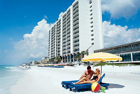 Resort Beach Area | Landmark Holiday Beach Resort | Bluegreen