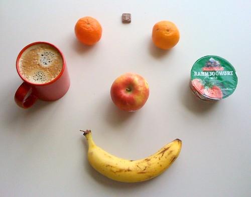 Clementinen, Braeburn, Banane & Rahmjoghurt