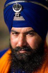 Saint Soldier (gurbir singh brar) Tags: portrait male proud beard human turban sikh punjab fearless khalsa toda righteous banga khanda chakkar nihangs selfreliant dumala   gurbirsinghbrar nihangsingh saintsoldier   nikond3s        babaswaranjitsingh
