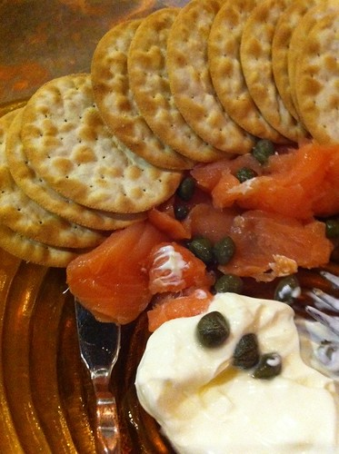 Lox Plate @ Savvy Cellar Wine Bar & Wine Shop