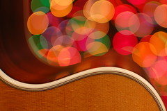 Guitar Bokeh - desktop wallpaper background ( David Gunter) Tags: christmas wood 35mm lights nikon martin bokeh guitar f18 18 curve spruce binding rosewood 35mmf18gafsdxlens