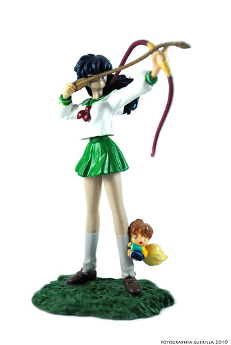 Kagome and Shippo figures from Inuyasha