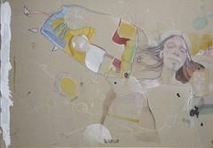(Kaopai) Tags: portrait man color art face pencil colorful gesicht head drawing kunst mann bunt psycedelic karton mensch zeichnung kopf illu buntstift farb pappe aquarellstift
