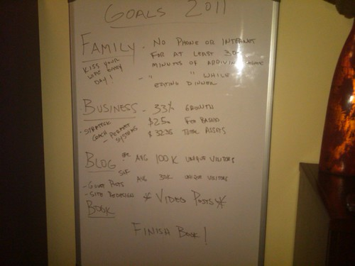 Writing Down Goals for 2011