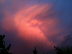 Fiery Clouds at Dawn... (Canoecat) Tags: sky canada home clouds sunrise edmonton alberta iphone theworldthroughmyeyes magicofnature bej july2010 cherryontopphotography spiritofphotography naturescreations ablackrose betterthangoodlevel2 betterthangoodlevel1
