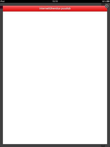 Eesti Ekspress iPadil: netiühendus puudub