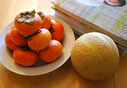 Persimmons and French Melon