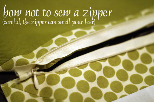 how not to sew a zipper