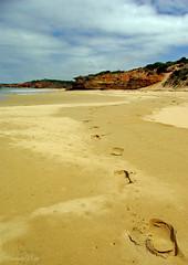 Loneliness (SmartyPhoto) Tags: beach sand loneliness traces australia victoria bm australien greatoceanroad bestofmonth bestofthemonth spiritofphotography bestofmonthaward