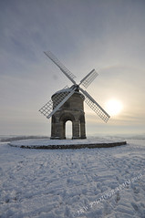 All Footsteps Lead To Chesterton Windmill (JRT ) Tags: wallpaper sun snow cold window windmill clouds nikon hill sails freezing fields warwickshire brickwork 8c d90 chestertonwindmill johnwarwood flickrjrt
