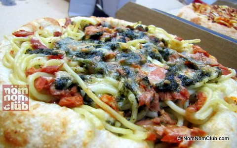 Tuna Pesto Pasta in a Dough