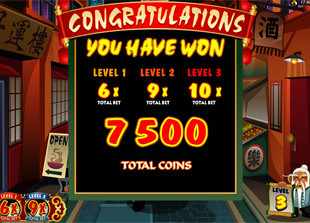 free Kung Fu Monkey bonus game win