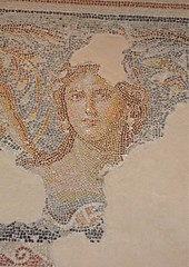 """Mona Lisa of the Galilee"" in Roman mansion at Sepphoris (Seetheholyland.net)"
