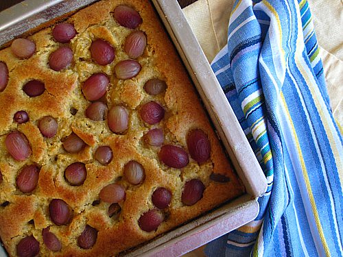 Red Grape Olive Oil Cake; gluten-free, refined sugar-free