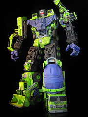 Devastator (5) (frenzy_rumble) Tags: transformer hook custom commission fr autobot scavenger mixmaster decepticon scrapper lacquer kitbash devastator longhaul bonecrusher enamels houseofkolors frenzyrumble frenzyrumblecom procustomizers peaugh