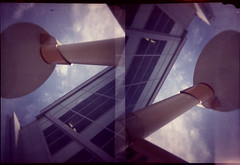 Light up, light up (QsySue) Tags: light sky building lamp miniature losangeles lamppost hollywood falcon lightpost 127film colorfilm halfframecamera falconminiature 127filmcamera 46mmfilm mydadsfirstcamera titleisasnowpatrollyric falconhalfframe