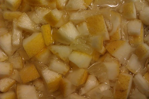 lemon chunks in water