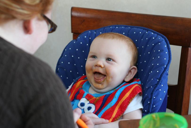 Ben eating - seven months