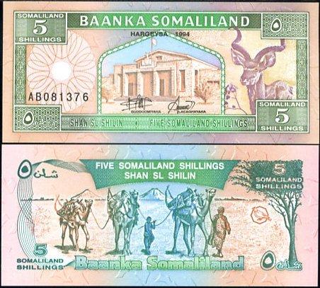 5 Šilingov Somaliland 1994, P1
