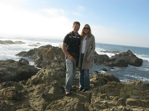 Andrew and Raquel in Mendocino