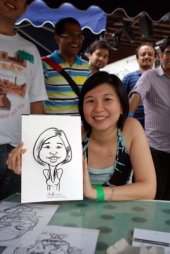 Caricature live sketching for VISA Beach Party 2010 -10