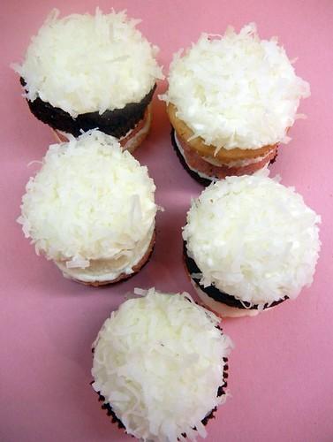 neapolitan layered cupcakes