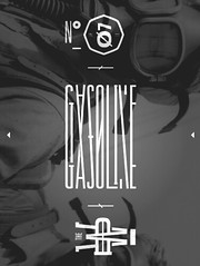 MSCED : 035  Gasoline (cmyka_msced) Tags: blackandwhite typography design graphicdesign designers msced makesomethingcooleveryday thedeadweather
