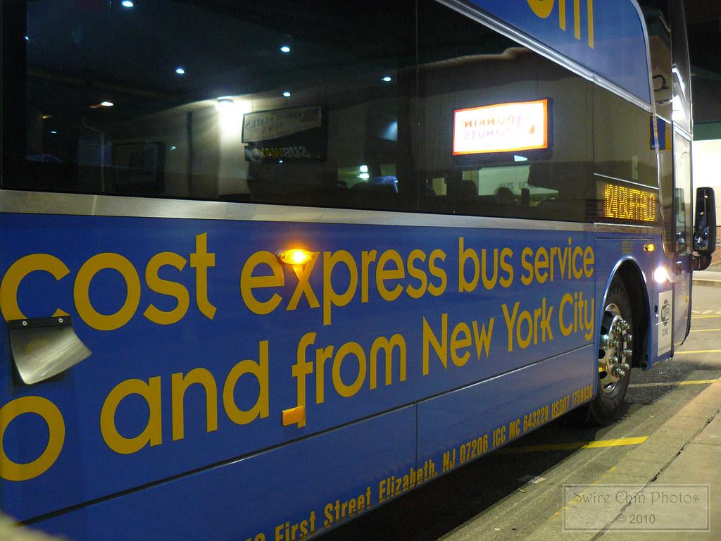 Megabus Coach at Buffalo, New York