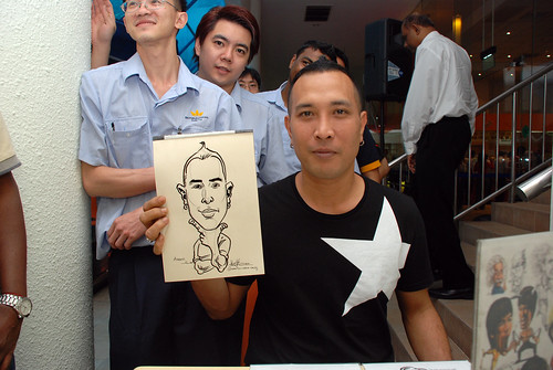 Caricature live sketching for BAT White Christmas Party 2010 - 2