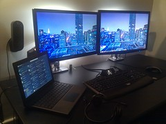 Mission Control (wholypantalones) Tags: monitors dual webdevelopment g19 cr48 dioder